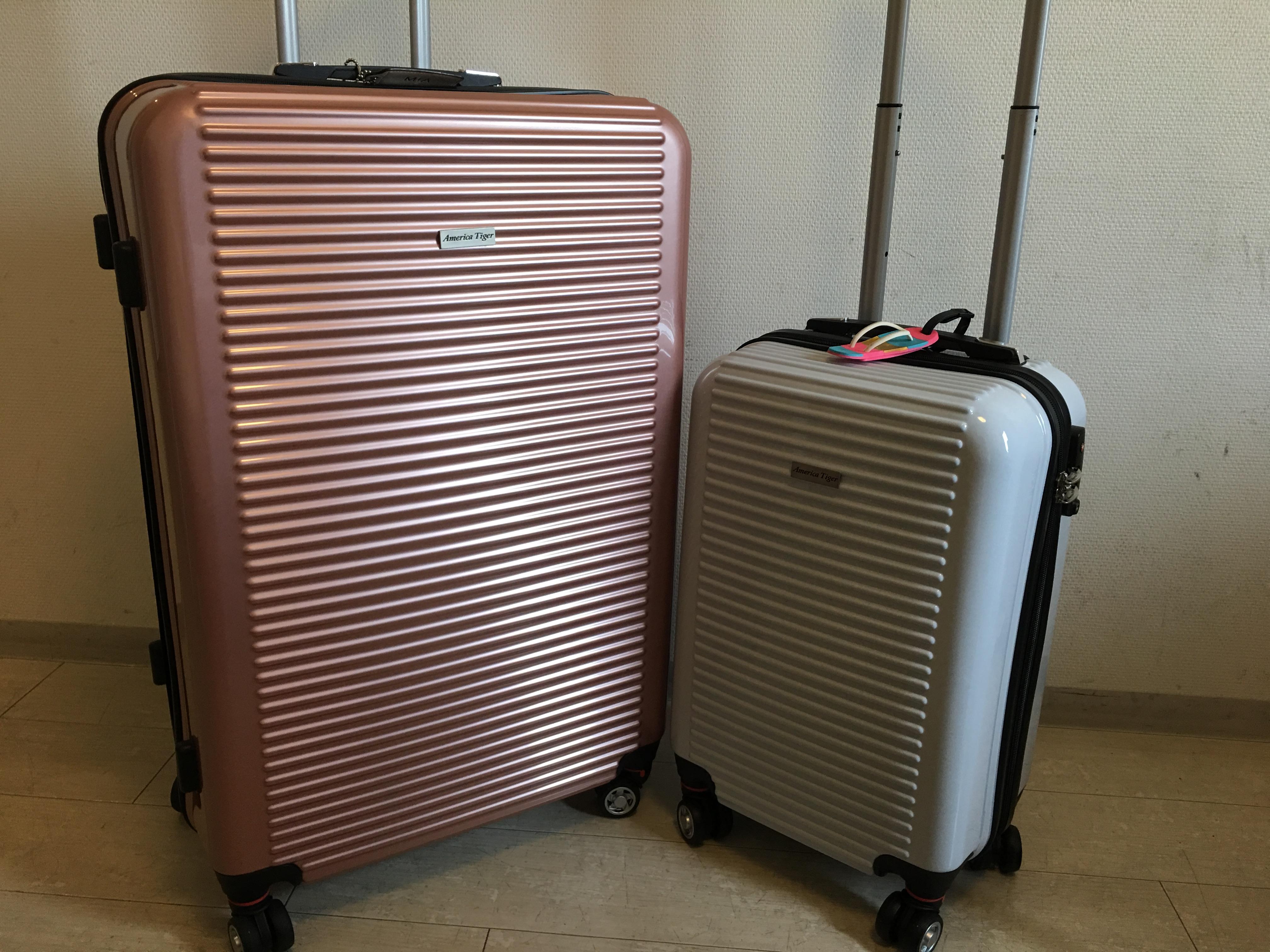 出國採買好幫手★【America Tiger】天之翼 29+20吋2件組PC+ABS亮面行李箱