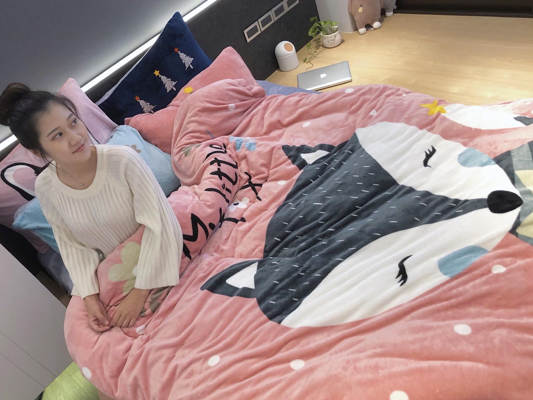 萌趣溫暖新上市【DON】法蘭絨被套床包組