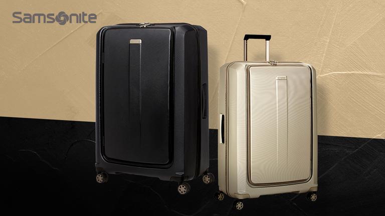 Samsonite專為時尚職人設計,首款1:9超大容量前開式防刮行李箱